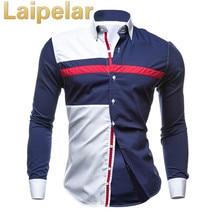 Men Long Sleeve Shirt 2018 Male Striped Shirts Slim Fit Camisa Social Masculina Casual XXL