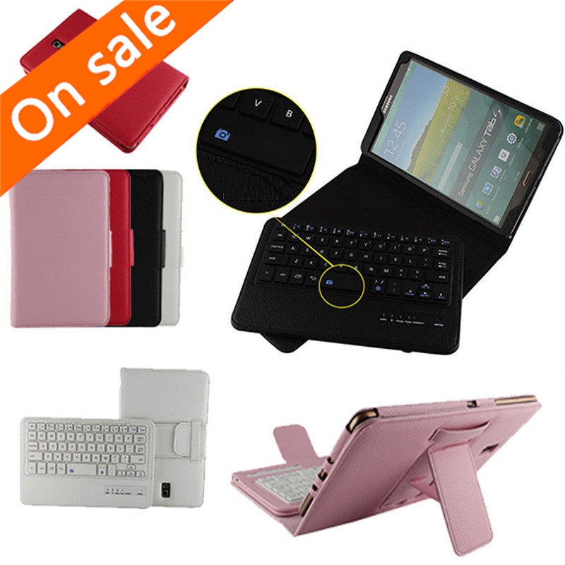 2 Free Gifts Wireless Bluetooth Keyboard Case for Samsung Galaxy Tab S 8.4 T700/705 Russian/Spanish Keyboard Language Customize