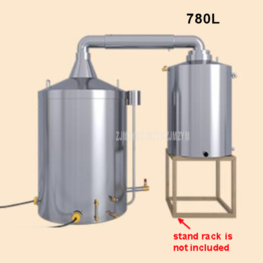 780L Large Commercial Professional Wine Brewing Equipment Automatic Liquor Distillation Boiler Wine Making Machine 380V 1