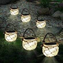Thrisdar 3PCS Mason Jar Solar Garden Fairy Light Retro Outdoor Hanging Lanterns Ball Light For Garden Yard Pathway Umbrella Tree