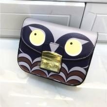 14Color Famous Designer Fairy Lolita Style Graffiti Print Day Clutch Doodle Animal Handbag Luxury Brand Women Chain Shoulder Bag