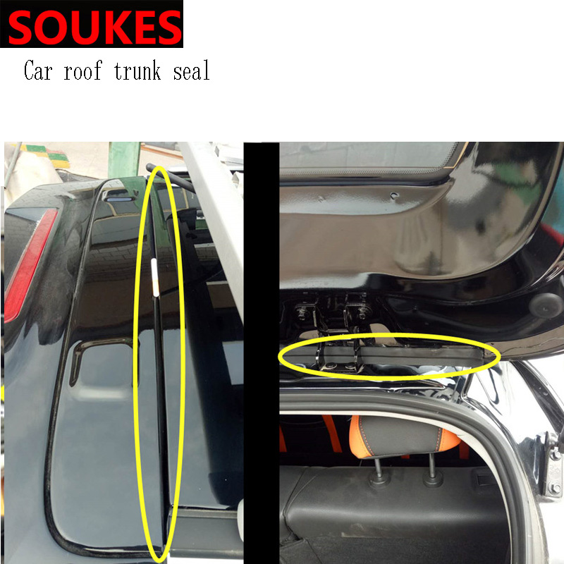 1.5m Car Rear Bumper Trunk Soundproof Trim Seal Strip For Peugeot 206 307 407 308 208 3008 Toyota Corolla Yaris Rav4 Avensis
