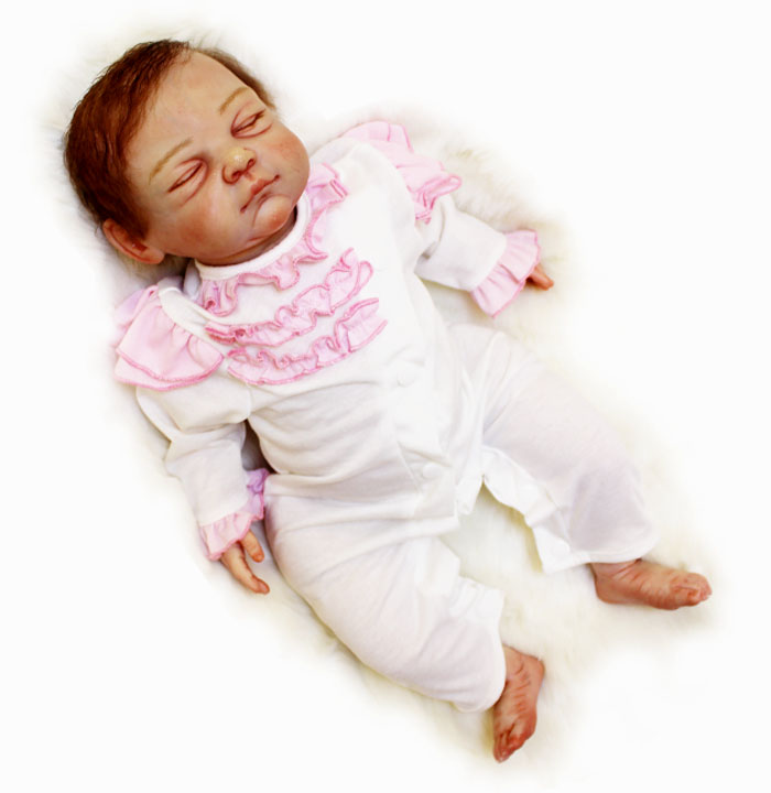 The Artists Masterpiece Silicone Reborn Sleeping Baby Doll Toy Lifelike Newborn Girl Babies Doll For Kid Play House ToyThe Artists Masterpiece Silicone Reborn Sleeping Baby Doll Toy Lifelike Newborn Girl Babies Doll For Kid Play House Toy