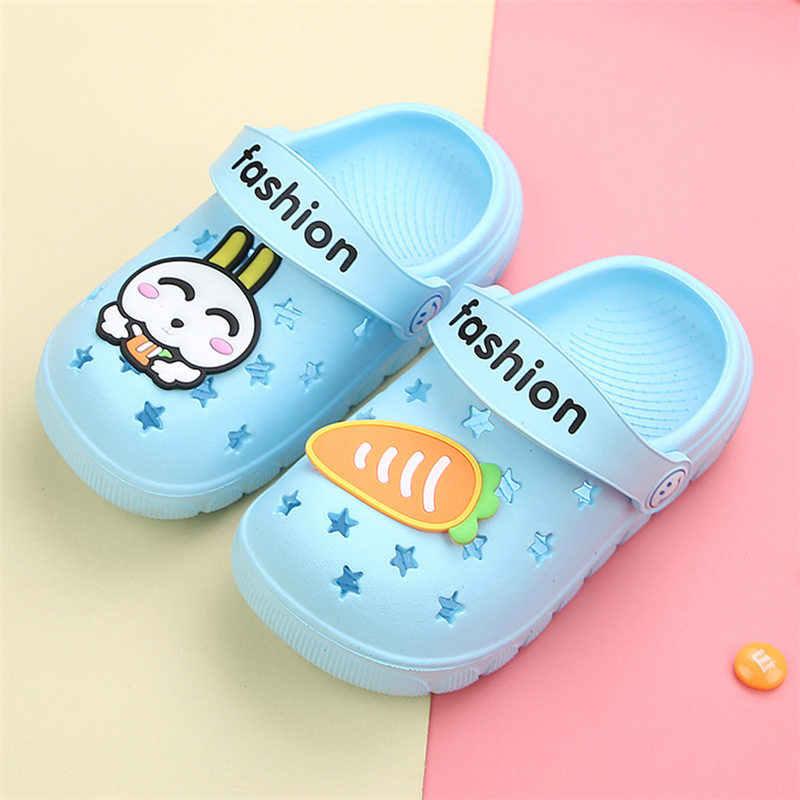 Kocotree Kind Zomer Slippers Leuke 3D Cartoon Vliegtuig Zachte Zool Slippers Water Schoenen Kids Barefoot Anti-slip Strand baby Sandalen