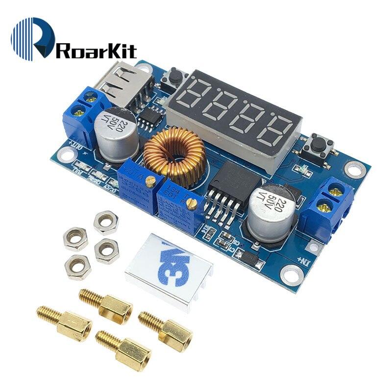 10PCS DC 4.5-40V To 5V 2A USB Charger DC Step-down Converter Voltmeter Module M4