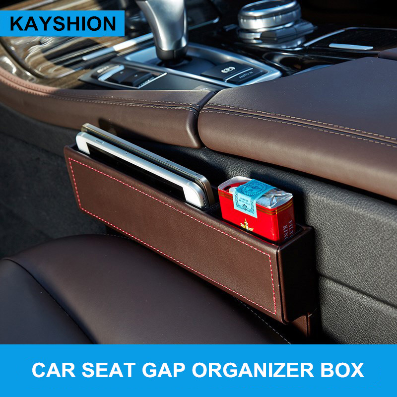 Leather car seat crevice storage box multi-purpose auto gap organizers carrying pocket car seat gap store content box black майка gap gap 15