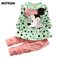 Fashion baby Cartoon clothing Suits Girls Minnie clothes kids cotton shirts pants 2pcs Children Clothing leggings Set