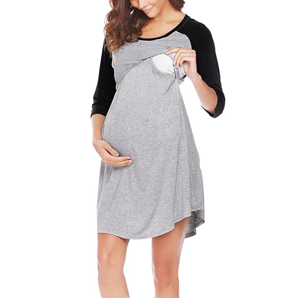 Telotuny women dress Nightgown Breastfeeding maternity clothes women dresses summer casual maternity dresses JL 27 цена