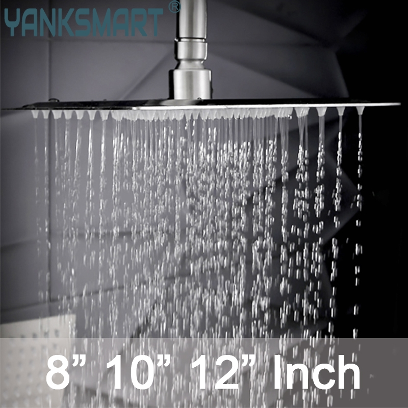 Us 16 31 49 Off Brushed Nickel And Antique Br Hot Square Rain Shower Head Wall Ceiling Mounted Top Over Sprayer 8