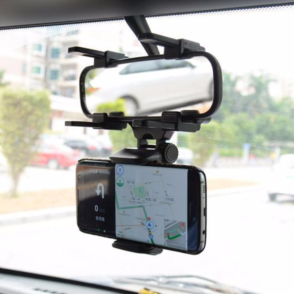 Universal Adjustable Car Phone Holder Car Rearview Mirror Mount Mobile Phone Holder 360 Degrees Rotation For Smartphone Stand