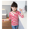 Spring Autumn Long Sleeve Brand T-shirt For Girls Stripe Shirts Children Tops Children's Sweatshirts Baby Clothing Tees XL710