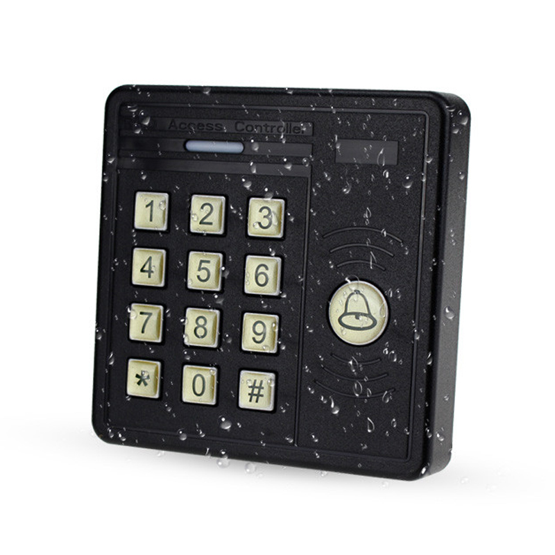 IP65 Waterproof RFID keypad standalone door access controller with digital button ID card reader for home security system good quality smart rfid card door access control reader touch waterproof keypad 125khz id card single door access controller