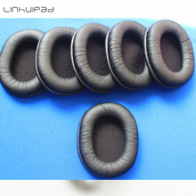 hot deal buy linhuipad 50pack=25 pairs leather ear pads headset ear cushions durable sponge earpads for sony mdr-7506, v6, cd900st
