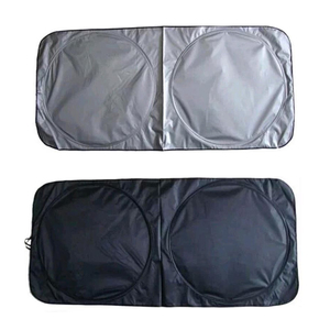 Image 2 - Car Front Rear Windshield Sunshade Dashboard Cover Visor Glass Front Window Sun Shade Foldable Cover Universal Car Accessories