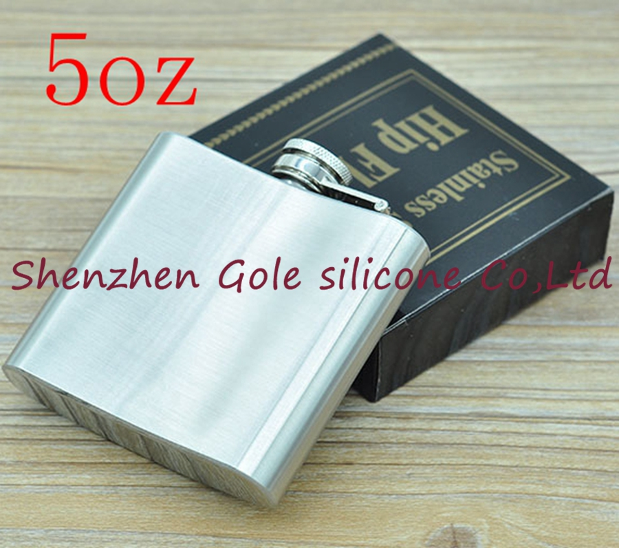 200pcs 5oz Stainless Steel Pocket Flask Russian Hip Flask Male Small Portable Mini Shot Bottles Whiskey Jug Small Gifts For Man