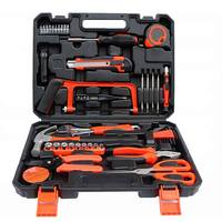 45 pcs Garage and Home Tool Kit with Claw Hammer Wrench Pliers Screw Bits Tool Set in Box For Home Office Yard garden