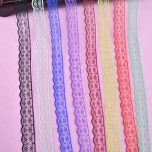 10Yards/Lot Lace Ribbon Width 22MM Black White Trim Fabric Embroidered Sewing Accessories Decoration African