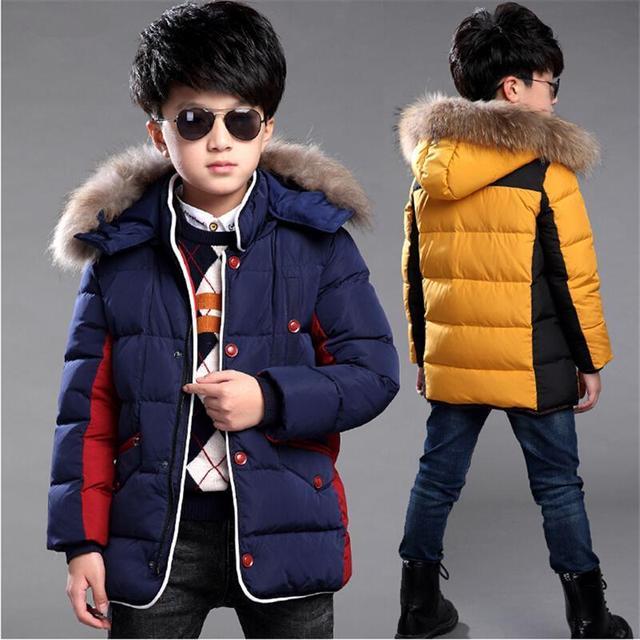 2017 новый детской одежды мальчик пальто толстые зимнее пальто дети ребенок хлопок длинный участок большой девственный хлопка-ватник