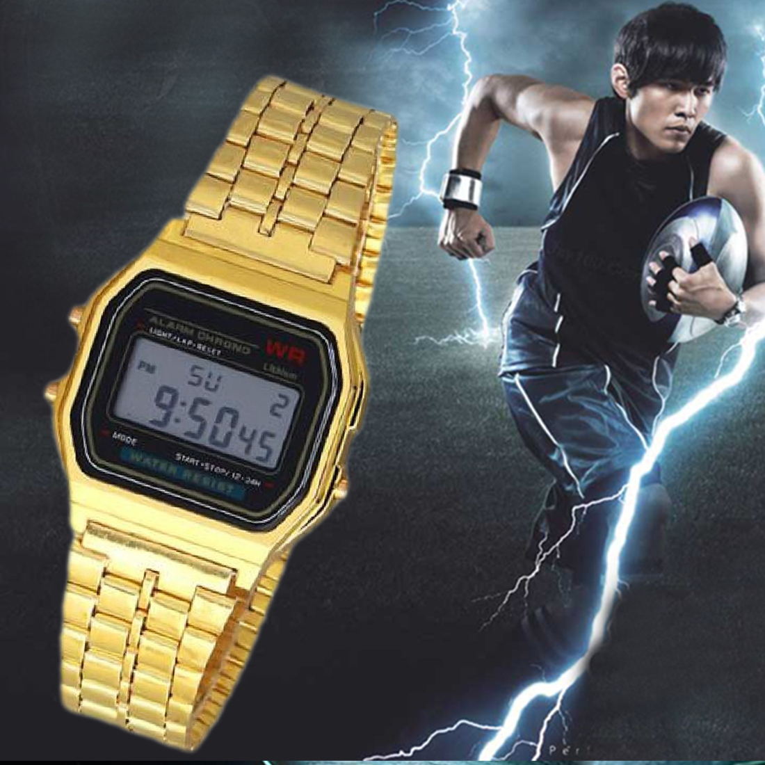 Permalink to Digital Watch Fashion Wristwatches Gold Slver Couple Watch Square Military Men Women Dress Sports Watches Women Watch