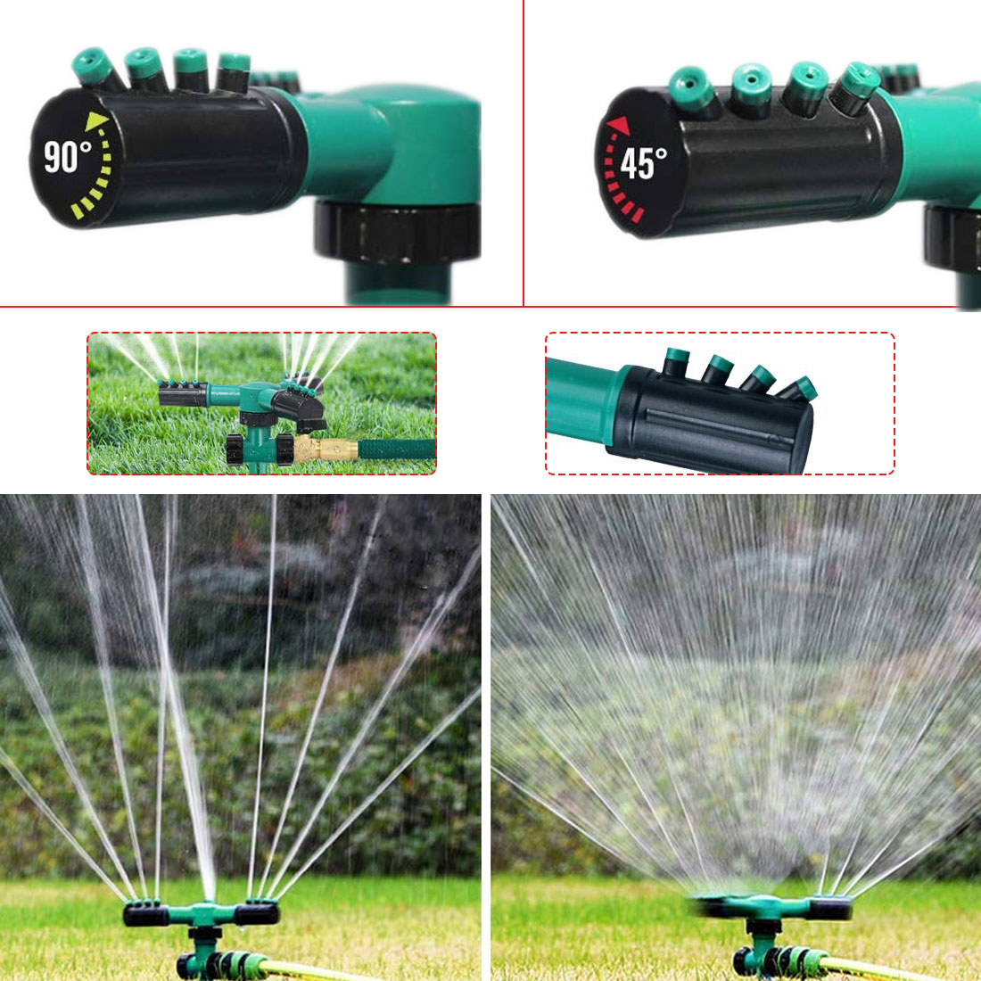 1pc 360 Degree Circle Rotating Water Sprinkler Automatic Watering  Garden  Grass Lawn Sprinklers