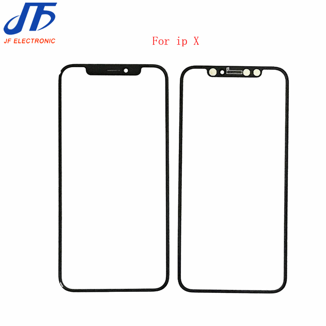 Front Panel LCD Outer Glass Cover New Touch Screen Lens Replacement parts For iphone x