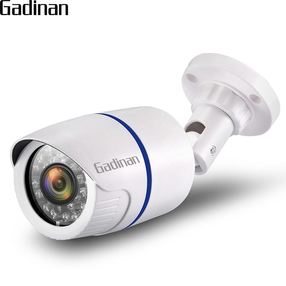 GADINAN IP Caméra 5MP 3MP 2MP PoE Sécurité Extérieure Bullet Caméra de Surveillance CCTV IR Nuit Vision H.265 CCTV Accueil Caméra XMeye