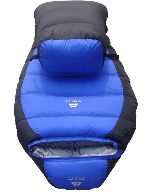 ФОТО -25 Degree Sleeping Bag Mummy Bag 2.3 KG White Dock Down Winter Thickening Bag    Freeshipping  by EMS !