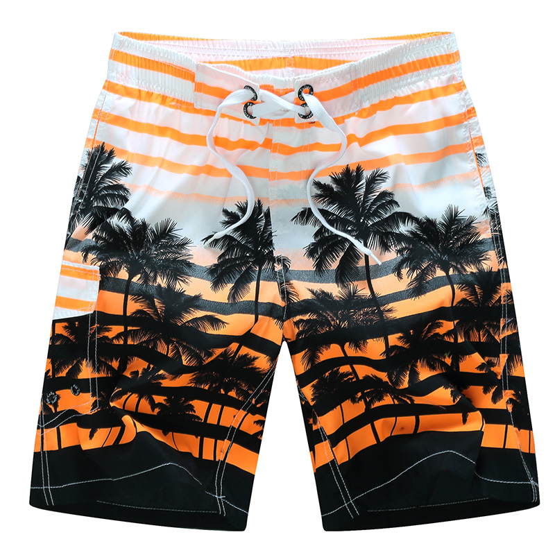 Mens Palm Trees Sunset Ocean Swim Trunks Quick Dry Beach Shorts Beachwear Board Shorts