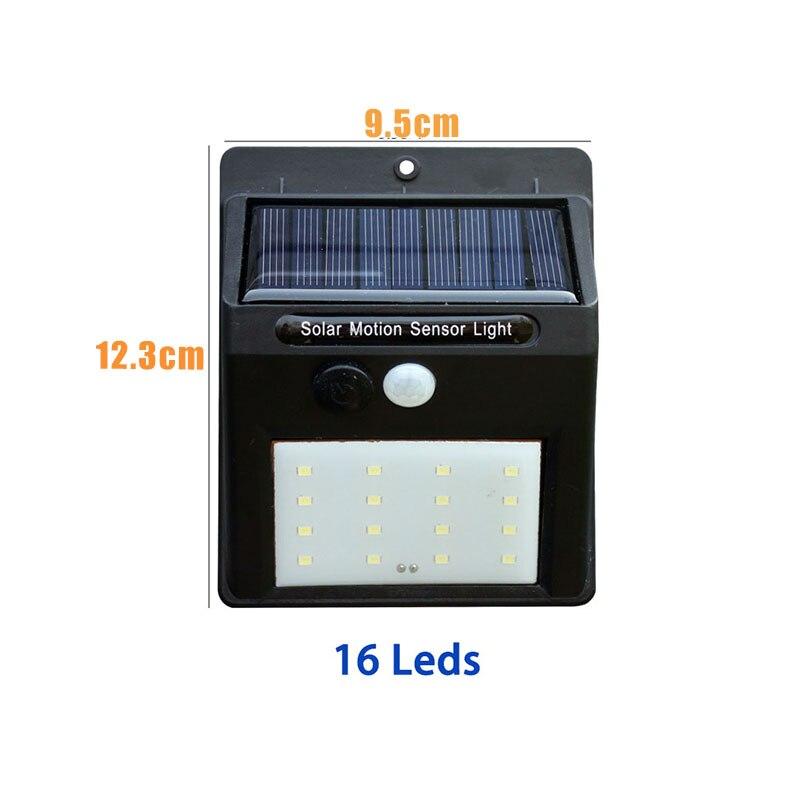 Led Solar Night Light PIR Motion Sensor Wall Light Waterproof 16/20/25/30 LEDs Energy Saving Outdoor Garden Security Solar Lamp 11