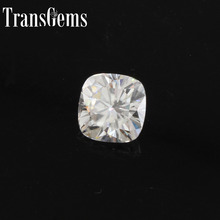 TransGems 1.1Carat 6mm*6mm F Color cushion  cut Moissanite Diamond Loose Stone as Real 1piece
