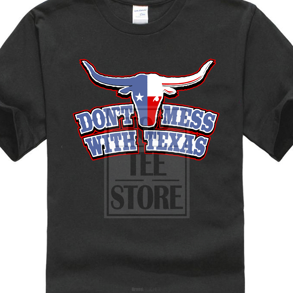 Don 39 T Mess With Texas Longhorn Country Bull Texan Lone Star State Men 39 S T Shirt in T Shirts from Men 39 s Clothing