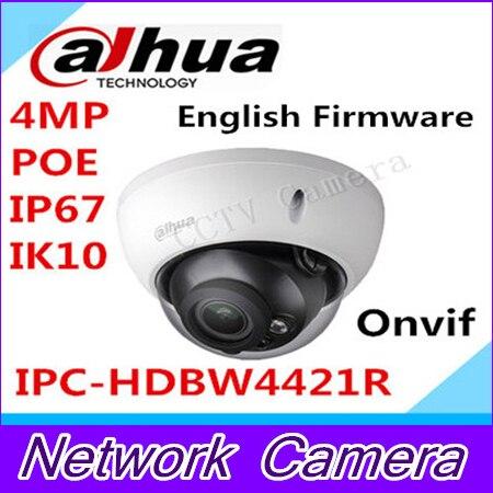 2015 New Dahua IPC HDBW4421R 4MP DH IPC HDBW4421R Waterproof IP Dome IP66 IK10 PoE Fixed
