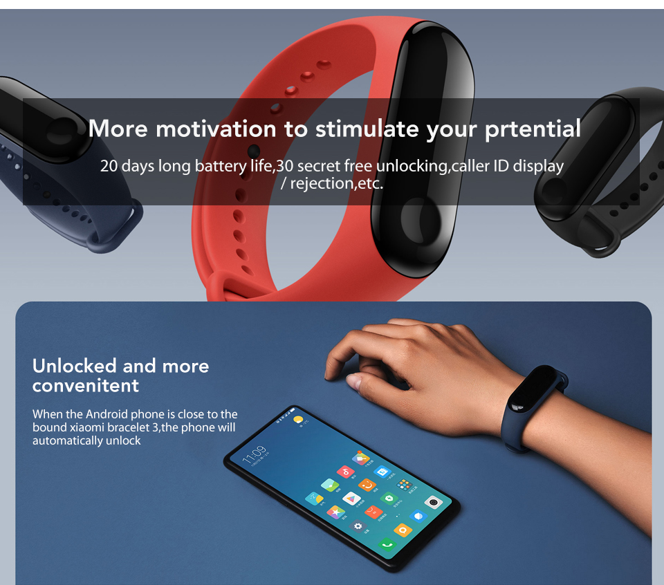 In Stock! Original Xiaomi Mi band 3 Xiomi Heart Rate Monitor Bluetooth 4.2 Xaomi Smart Sport Bracelet OLED Miband 3 Smartband  (9)