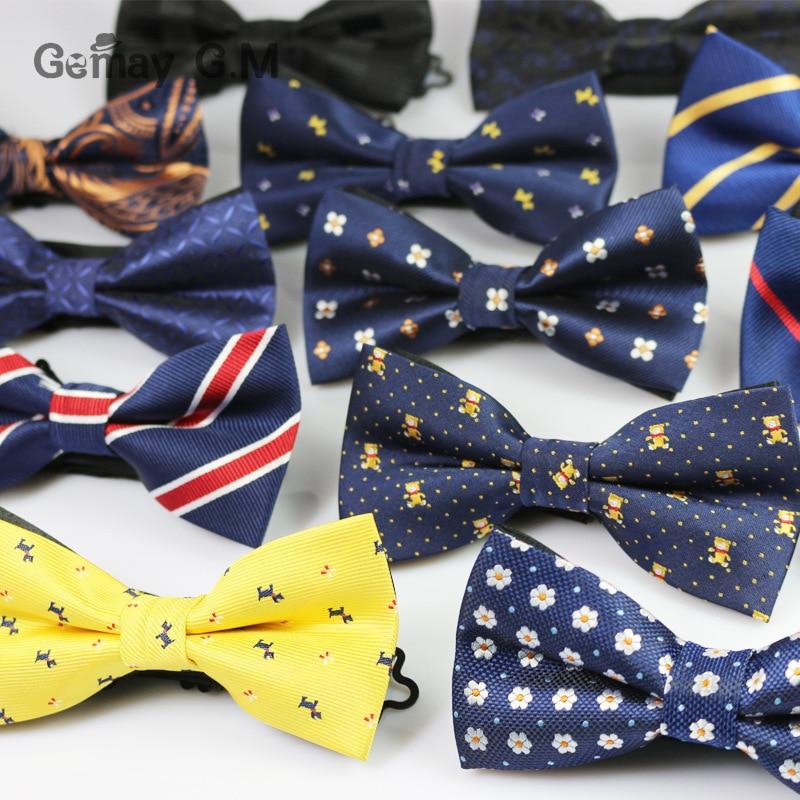 Kişilər üçün Yeni Polyester Bowtie Moda Təsadüfi Floral - Geyim aksesuarları - Fotoqrafiya 2