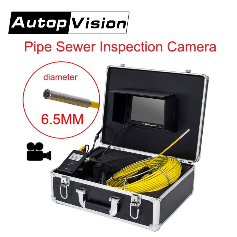 DHL free AP70 20m Professional Pipeline Endoscope Inspection Camera 7LCD Screen 6.5/17/23mm Pipe Drain Sewer Inspection Camera free shipping 20m cable drain sewer waterproof pipe camera pipeline inspection system 7 lcd dvr system 6pcs white led lights page 8
