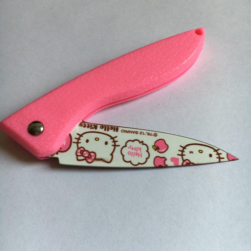 Hello kitty складной нож из нержавеющей стали для овощей и фруктов кухонная утварь мультяшный карманный нож инструменты 4 стиля