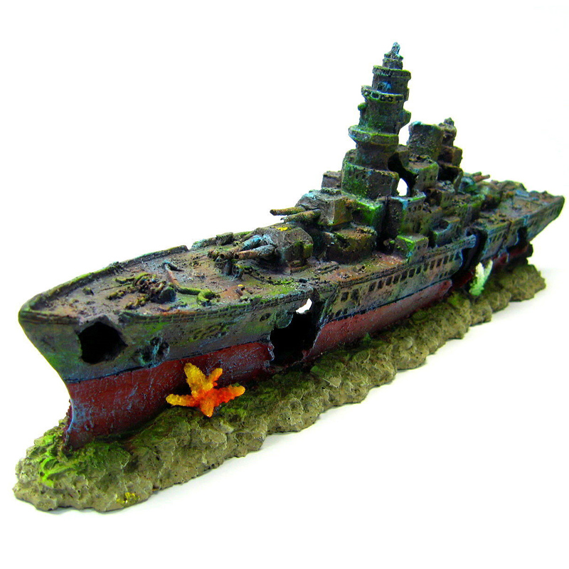 Navy warship reviews online shopping navy warship for Aquarium decoration ship