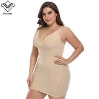 Wechery New Arrival Plus Size Slips Women Sexy Backless V Neck Slip For Party Club Elastic Full Slips Party Work Dresses