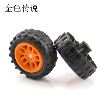 JMT 2 * 18mm Plastic Wheels Yellow Mini Wheels DIY Electronics Kit Wheel Technology Making Materials F19192 image