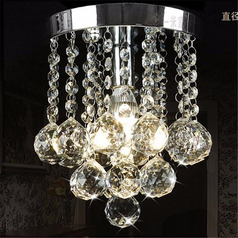 Moderne E14 K9 cristal 1 plafonniers 10 W 110-240 V livraison gratuite 20*20*19 CM cristal lustre 1 lumières