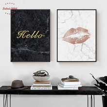 900D Wall Art Canvas Painting Posters And Prints Pictures For Living Room Poster Nordic Marble Decoration NOR084