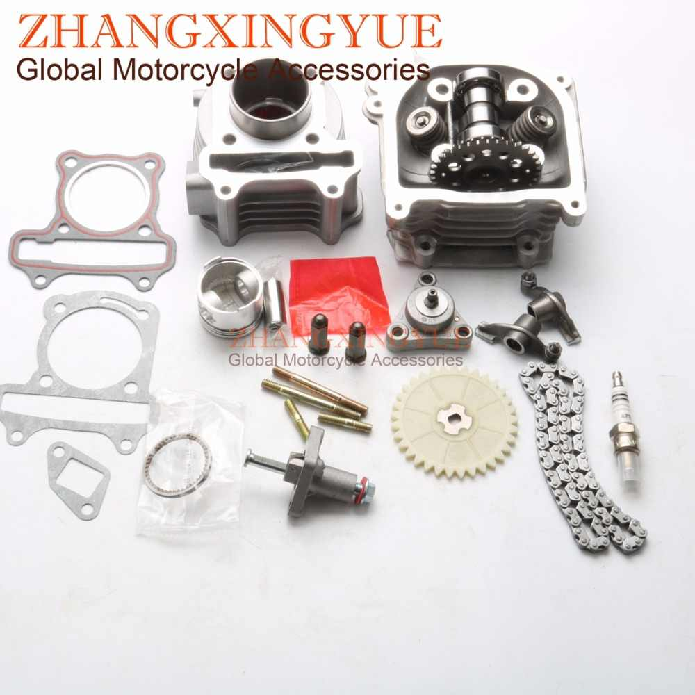 60cc NON-EGR Big Bore Kit 9 Lubang Cam & Rocker & Kinerja AC CDI untuk 50cc GY6 50cc 139QMB Kymco Agility 50cc Symply 44mm 4 T