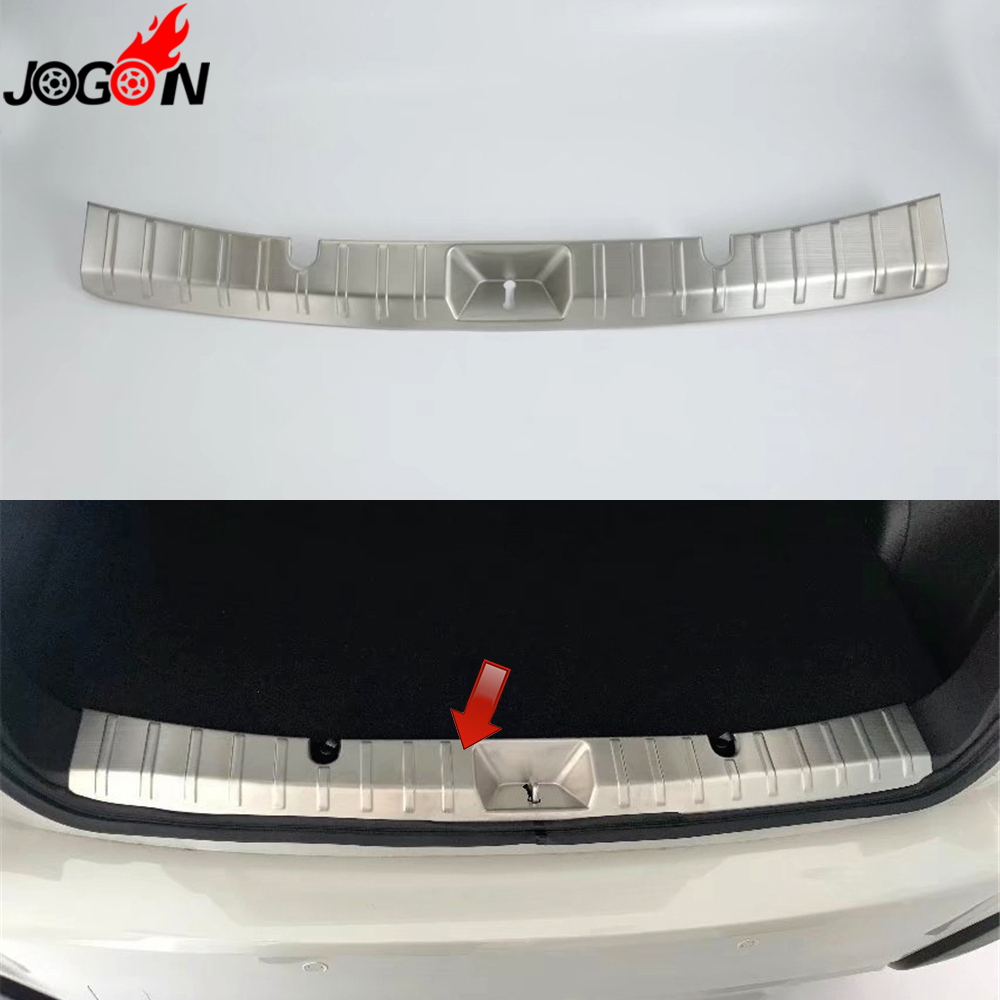 For Subaru XV 2018 Hatch Rear Inner Trunk Bumper Sill Cover Trim Stainelss Steel