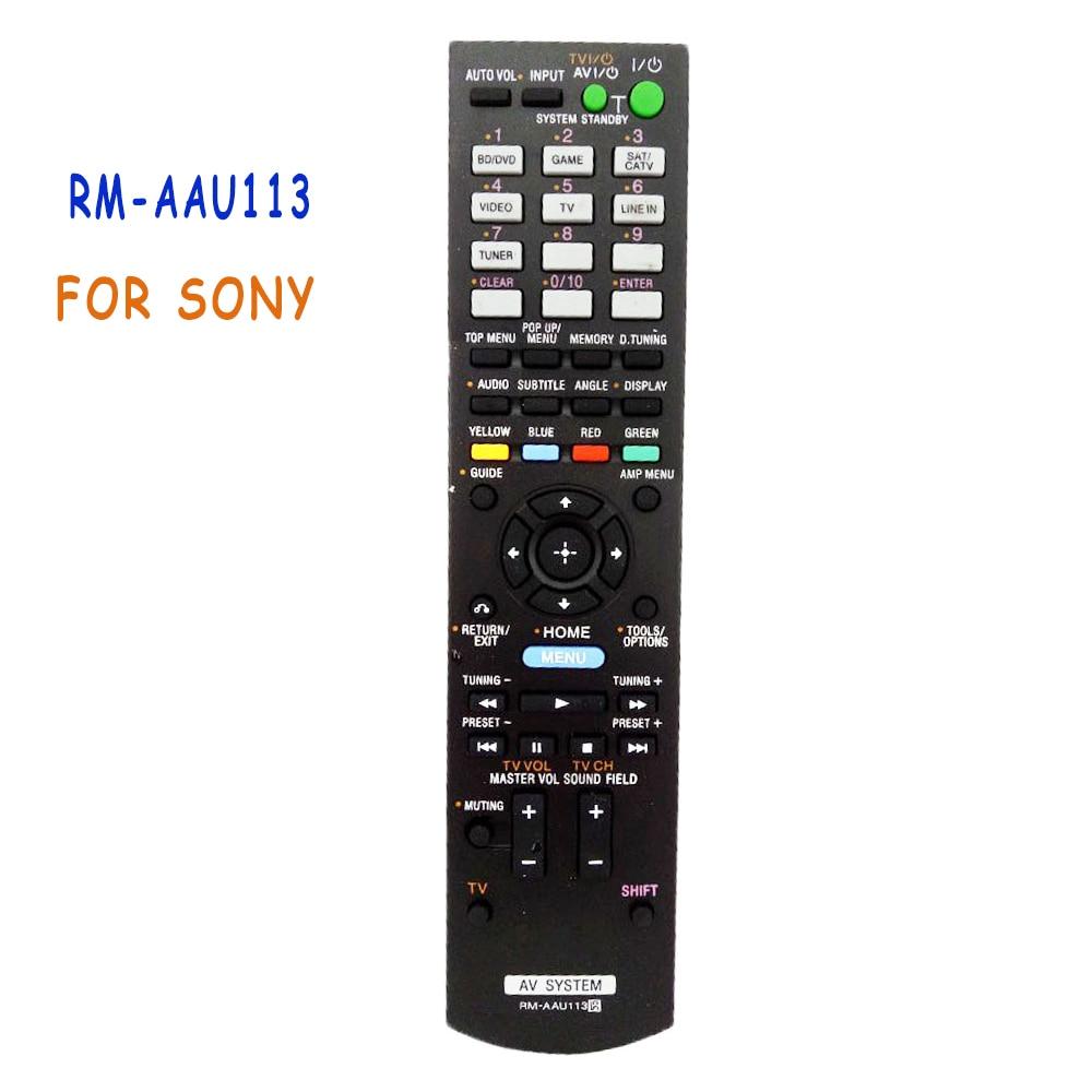 Nova Substituição RM-AAU113 Amplificador de Potência de Áudio DO SISTEMA De Controle Remoto Para Sony AV RMAAU113 RM-AAU072 STR-DH830 Remoto Controle