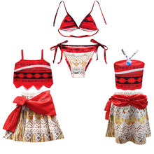 f2d7f4a6866 Children Trolls Moana Swimwear Two-Piece Bikini Girls Baby Swimsuit Baby  Bathing Suits Kids Children