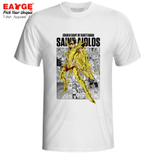 цены Sagittarius Aiolos T-shirt Gold Saints Saint Seiya Anime Knights of the Zodiac Cool Print T Shirt Pop Rock Funny Women Men Top