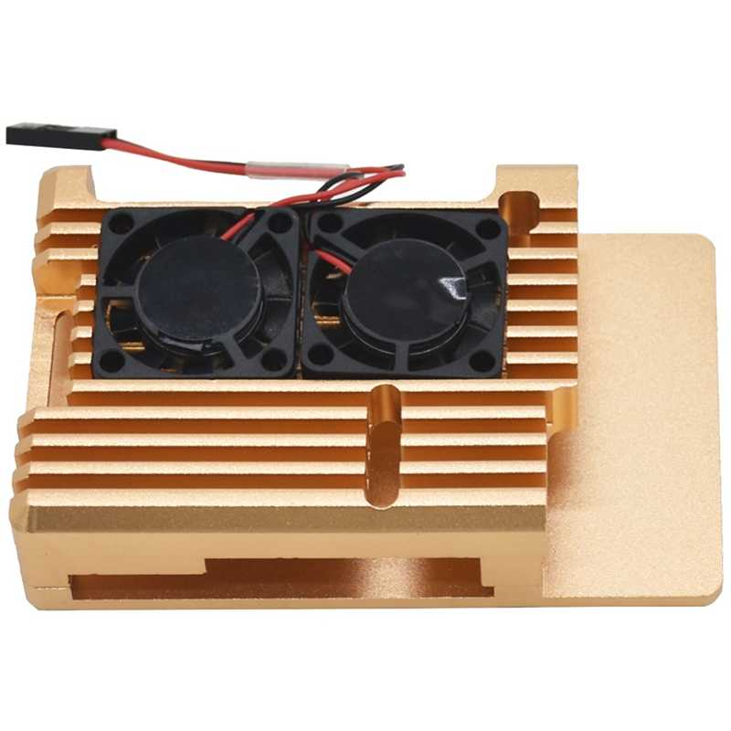 ل Raspberry Pi 3 نموذج B + التبريد قذيفة سبائك معدنية الألومنيوم مروحة مشعاع