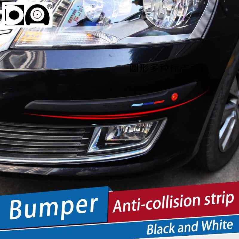 Car Bumper Anti-collision Strip Black/White for Tesla Model 3/X/S Roadster