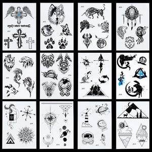 Временная тату-наклейка с крыльями ангела, крестообразной формы, для мужчин, разные стили, 1 шт., 24 Модели
