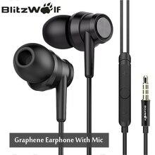 BlitzWolf BW ES1 3 5mm In ear Noise Cancelling font b Earphone b font Stereo Earbuds